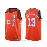 Camiseta 2020 Rising Star Jaren Jackson Jr. NO 13 USA Rojo