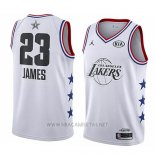 Camiseta All Star 2019 Los Angeles Lakers Lebron James NO 23 Blanco