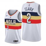 Camiseta New Orleans Pelicans Ian Clark NO 2 Earned Edition Blanco