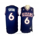 Camiseta Philadelphia 76ers Julius Erving NO 6 Retro Azul