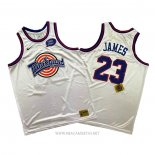 Camiseta Tune Squad Lebron James NO 23 Blanco