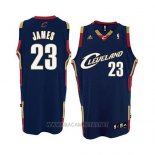 Camiseta Cleveland Cavaliers Lebron James NO 23 Retro Azul2