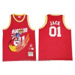 Camiseta Houston Rockets x Cactus Jack NO 01 Rojo