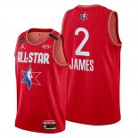 Camiseta All Star 2020 Los Angeles Lakers Lebron James NO 2 Rojo