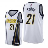 Camiseta Indiana Pacers Thaddeus Young NO 21 Earned Edition Blanco