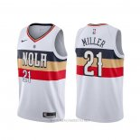 Camiseta New Orleans Pelicans Darius Miller NO 21 Earned Blanco