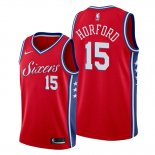 Camiseta Philadelphia 76ers Al Horford NO 15 Statement Rojo