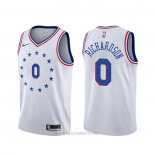 Camiseta Philadelphia 76ers Josh Richardson NO 0 Earned Blanco