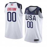 Camiseta USA Personalizada 2019 FIBA Basketball World Cup Blanco