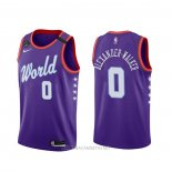 Camiseta 2020 Rising Star Nickeil Alexander-Walker NO 0 World Violeta