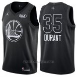 Camiseta All Star 2018 Golden State Warriors Kevin Durant NO 35 Negro