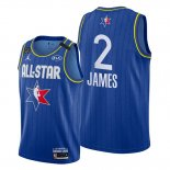Camiseta All Star 2020 Los Angeles Lakers Lebron James NO 2 Azul