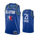 Camiseta All Star 2020 Philadelphia 76ers Joel Embiid NO 21 Azul