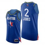 Camiseta All Star 2020 Western Conference Lebron James NO 2 Azul
