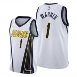 Camiseta Indiana Pacers T.j. Warren NO 1 Earned Blanco