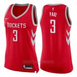 Camiseta Mujer Houston Rockets Chris Paul NO 3 Icon 2017-18 Rojo