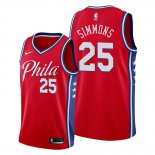 Camiseta Philadelphia 76ers Ben Simmons NO 25 Statement Edition Rojo