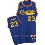 Camiseta Cleveland Cavaliers LeBron James NO 23 Retro 2009 Azul
