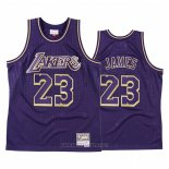Camiseta Los Angeles Lakers LeBron James NO 23 2020 Chinese New Year Throwback Violeta