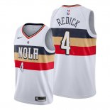 Camiseta New Orleans Pelicans J.j. Redick NO 4 Earned Blanco2