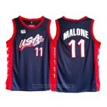 Camiseta USA 1996 Karl Malone NO 11 Negro
