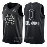 Camiseta All Star 2018 Detroit Pistons Andre Drummond NO 0 Negro