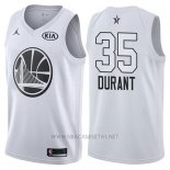 Camiseta All Star 2018 Golden State Warriors Kevin Durant NO 35 Blanco