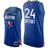 Camiseta All Star 2020 Los Angeles Lakers Kobe Bryant NO 24 Autentico Azul
