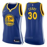 Camiseta Mujer Golden State Warriors Stephen Curry NO 30 Icon 2017-18 Azul