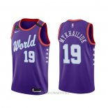 Camiseta 2020 Rising Star Svi Mykhailiuk NO 19 World Violeta