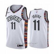 Camiseta Brooklyn Nets Kyrie Irving NO 11 Ciudad 2019-20 Blanco