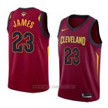Camiseta Cleveland Cavaliers Lebron James NO 23 Icon 2017-18 Finals Bound Rojo