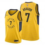 Camiseta Indiana Pacers Malcolm Brogdon NO 7 Statement Oro