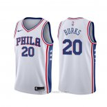 Camiseta Philadelphia 76ers Alec Burks NO 20 Association Blanco