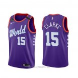 Camiseta 2020 Rising Star Brandon Clarke NO 15 World Violeta