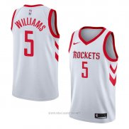 Camiseta Houston Rockets Troy Williams NO 5 Association 2018 Blanco