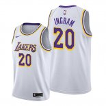 Camiseta Los Angeles Lakers Andre Ingram NO 20 Association Blanco