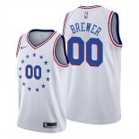 Camiseta Philadelphia 76ers Corey Brewer NO 00 2018-19 Blanco