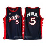 Camiseta USA 1996 Grant Hill NO 5 Negro