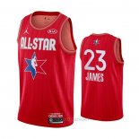 Camiseta All Star 2020 Los Angeles Lakers LeBron James NO 23 Rojo