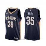 Camiseta New Orleans Pelicans Christian Wood NO 35 Icon Azul