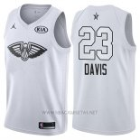 Camiseta All Star 2018 New Orleans Pelicans Anthony Davis NO 23 Blanco