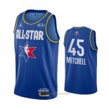 Camiseta All Star 2020 Utah Jazz Donovan Mitchell NO 45 Azul