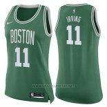 Camiseta Mujer Boston Celtics Kyrie Irving NO 11 Icon 2017-18 Verde