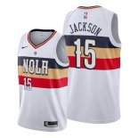 Camiseta New Orleans Pelicans Frank Jackson NO 15 Earned Blanco