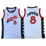 Camiseta USA 1996 Scottie Pippen NO 8 Blanco