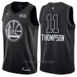 Camiseta All Star 2018 Golden State Warriors Klay Thompson NO 11 Negro