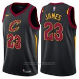 Camiseta Cleveland Cavaliers Lebron James NO 23 Statement 2017-18 Negro