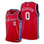 Camiseta Philadelphia 76ers Josh Richardson NO 0 Statement Rojo