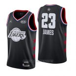Camiseta All Star 2019 Los Angeles Lakers Lebron James NO 23 Negro